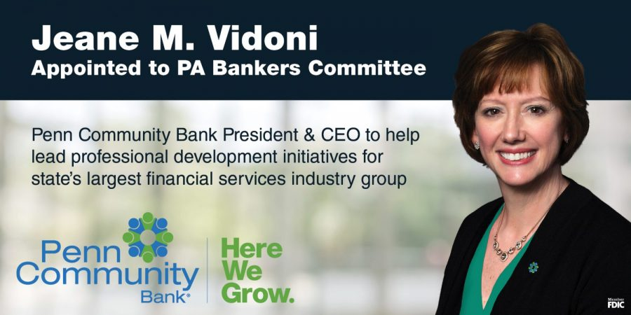 Jeane M. Vidoni Appointed to PA Bankers Committee