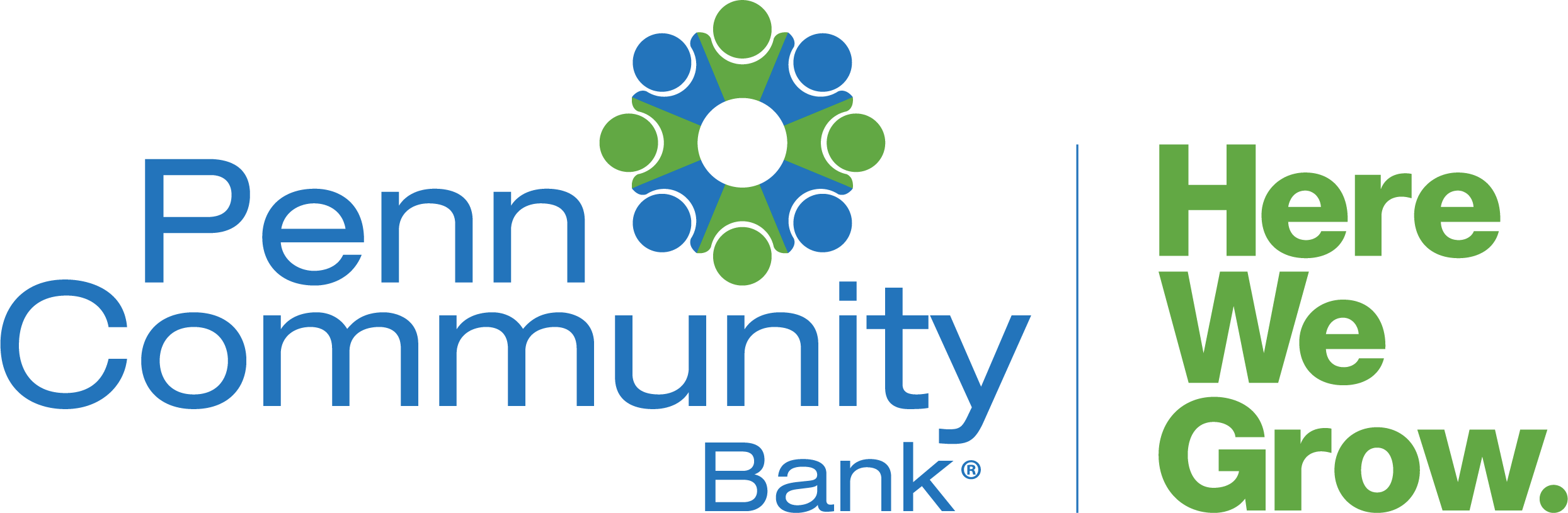 Penn Community Bank Logo. Here We Grow